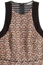 Jacquard-weave dress - Light beige/Pattern - Ladies | H&M CN 4