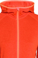 Fleece jacket with a hood - Orange marl - Ladies | H&M CN 3