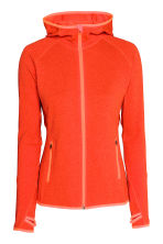 Fleece jacket with a hood - Orange marl - Ladies | H&M CN 2