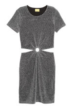 Glittery dress - Black/Silver - Ladies | H&M IE 2