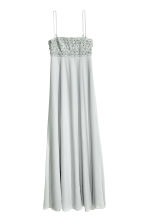 Beaded chiffon maxi dress - Light grey -  | H&M CN 2