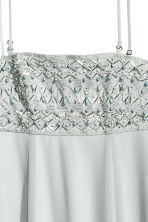 Beaded chiffon maxi dress - Light grey -  | H&M CN 4