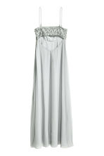 Beaded chiffon maxi dress - Light grey -  | H&M CN 3