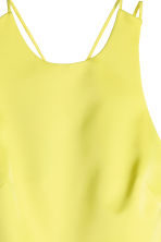 Satin dress - Yellow - Ladies | H&M CN 4