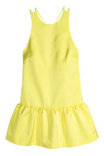 Satin dress - Yellow - Ladies | H&M CN 2