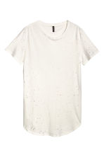 T-shirt trashed - White - Men | H&M CN 1