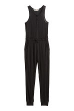 Jumpsuit with buttons - Black - Kids | H&M CN 2