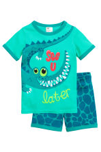 Jersey pyjamas - Green/Crocodile - Kids | H&M CN 1