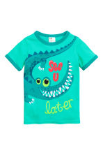 Jersey pyjamas - Green/Crocodile - Kids | H&M CN 2