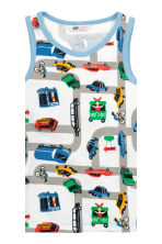 2-pack vest tops - White/Cars - Kids | H&M CN 2