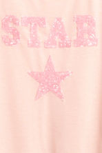 Jersey top - Light pink/Star - Kids | H&M CN 3
