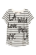 Jersey top - Black/Striped - Kids | H&M CN 2