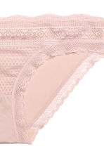 Lace and microfibre briefs - Old rose - Ladies | H&M CN 3