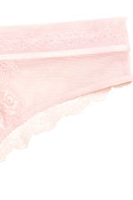 Lace half-string briefs - Powder pink - Ladies | H&M CN 3