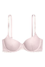 Padded underwired lace bra - Light pink - Ladies | H&M CN 2