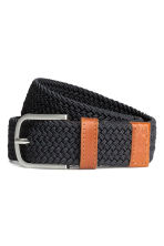 Elasticated fabric belt - Dark blue - Men | H&M CN 1