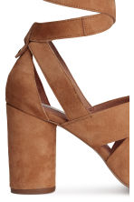 Suede sandals - Brown - Ladies | H&M CN 5