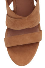 Suede sandals - Brown - Ladies | H&M CN 4