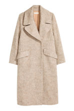 Wool-blend coat - Light beige marl - Ladies | H&M CN 2