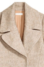 Wool-blend coat - Light beige marl - Ladies | H&M CN 4