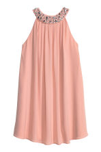 Beaded dress - Powder pink - Ladies | H&M CN 2