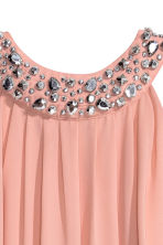 Beaded dress - Powder pink - Ladies | H&M CN 3