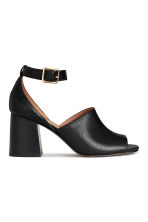 Sandals with a block heel - Black - Ladies | H&M CN 1