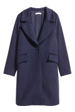 Cappotto in misto lana - Blu scuro - DONNA | H&M IT 2