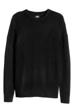Pattern-knit jumper - Black - Men | H&M CN 2
