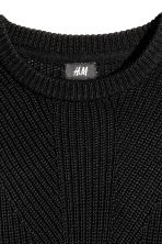 Pattern-knit jumper - Black - Men | H&M CN 3
