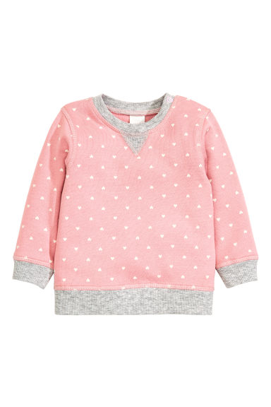 Sweatshirt - Light pink/Heart - Kids | H&M CN 1