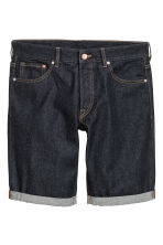 Denim shorts - Dark denim blue - Men | H&M CN 2