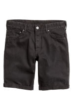 Denim shorts - Black denim - Men | H&M CN 2