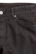 Denim shorts - Black denim - Men | H&M CN 4