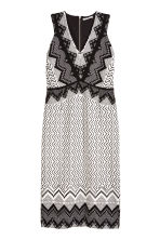 Patterned dress - White/Black - Ladies | H&M CN 2