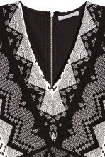 Patterned dress - White/Black - Ladies | H&M CN 3