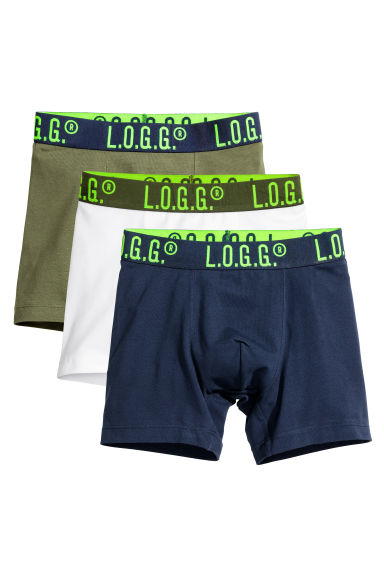3-pack boxer shorts - Khaki green - Kids | H&M CN