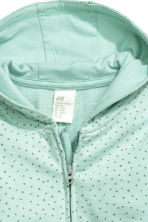 Hooded all-in-one suit - Mint green/Spotted - Kids | H&M CN 2