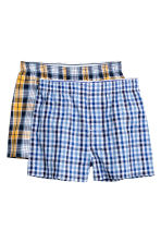 2-pack boxer shorts - Yellow/Checked -  | H&M CN 1