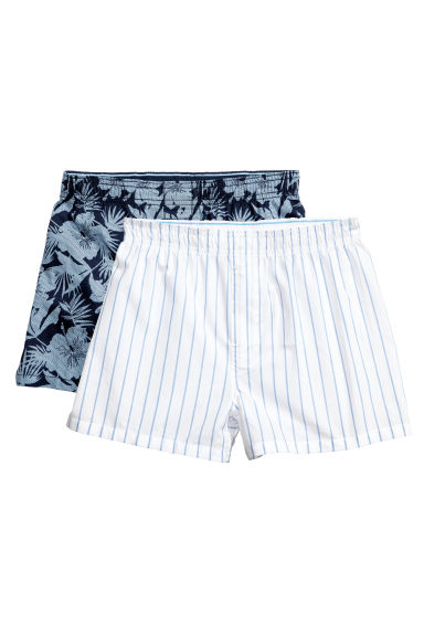 Boxer, 2 pz - Blu scuro/fantasia - BAMBINO | H&M IT