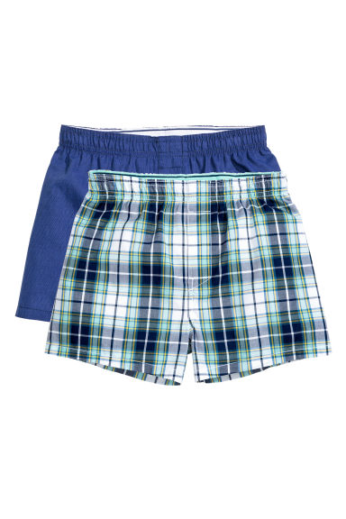 2-pack boxer shorts - Mint green/Checked - Kids | H&M CN 1