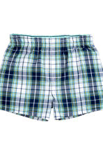 2-pack boxer shorts - Mint green/Checked - Kids | H&M CN 2