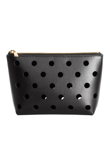 Perforated make-up bag - Black - Ladies | H&M CA 1