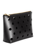 Perforated make-up bag - Black - Ladies | H&M CA 2