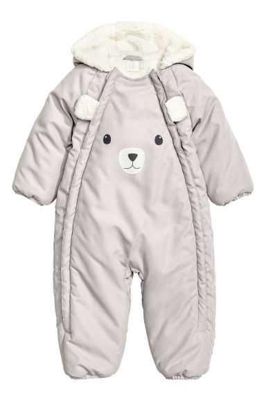 Padded all-in-one suit - Light mole - Kids | H&M CN 1