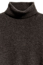 Fine-knit polo-neck jumper - Dark brown marl - Men | H&M CN 3