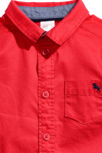 Cotton shirt - Red - Kids | H&M CA 2