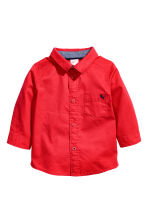 Cotton shirt - Red - Kids | H&M CA 1