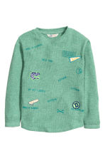 Long-sleeved T-shirt - Light green - Kids | H&M CN 2