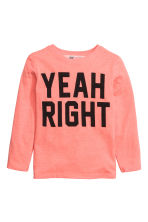Long-sleeved T-shirt - Coral - Kids | H&M CN 2